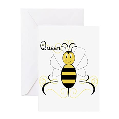 Amazon cafepress smiling bumble bee queen bee greeting cafepress smiling bumble bee queen bee greeting card note card birthday card m4hsunfo