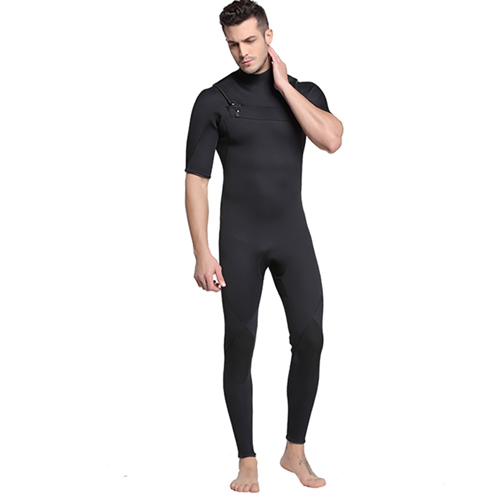 ウェットスーツ メンズ 水着 ラッシュガード 一体型 半袖 スイムウエア ダイビング サーフィン 日焼け止め 夏 3mm 水着 サーフィン 水泳 B07DJ84GRL XXXL