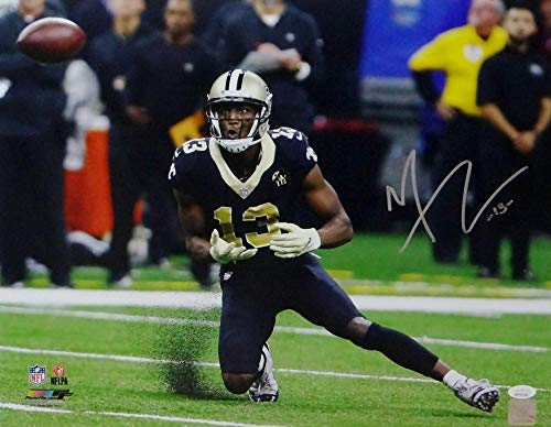 Michael Thomas Autographed Signed Saints 16x20 Pf Catch In Black Jersey -Memorabilia JSA Authentic Silver ()