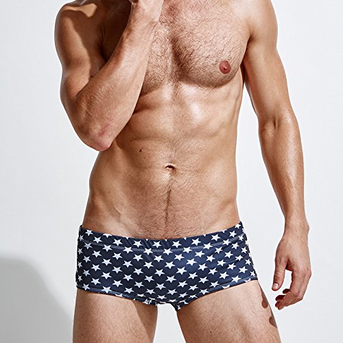 ZQ@QXTrunks boxer hommes star nylon stamp,L