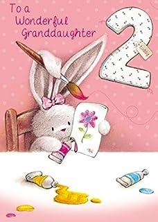 Greeting Card PH2026 Granddaughter 2nd Birthday