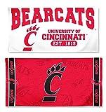 Bundle - 2 Items: Cincinnati Bearcats 1 Fiber Beach Towel 30x60 inches and 1 White Beach Towel 29x58 inches