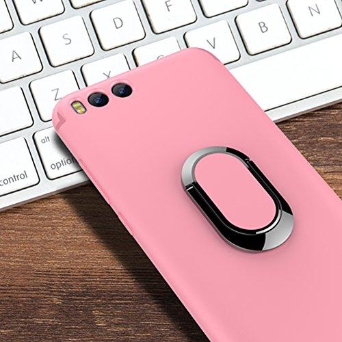 Funda Kickstand Xiaomi Mi 6, Funda Ring Holder Xiaomi Mi6, Vandot [Compatible con la caja de montaje de coche magnético] Accesorio de Hierro Magnético Soporte Giratorio de Anillo de 360 Grados Funda d Anillo-3