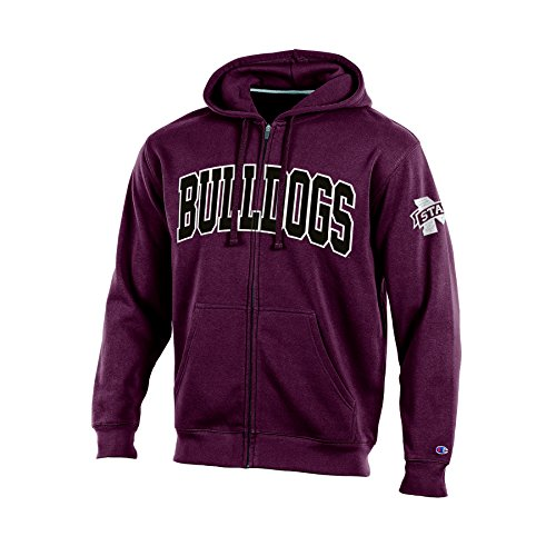 Champion (CHAFK) NCAA Mississippi State Bulldogs Adult Men Full Zip Hooded Fleece, Large, Maroon