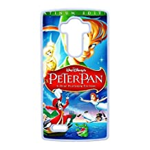 Durable Rubber Cases LG G4 Cell Phone Case White Eoiok Peter Pan Protection Cover