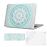 iCasso Macbook Pro 13 Case 2017 and 2016 Release Plastic Cover + Keyboard Skin + Screen Protector for Newest Macbook Pro 13'Retina Model A1706/A1708 W/without Touch Bar and Touch ID-Blue White Mandala