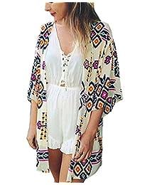 Yonala Womens Summer Fashion Printed Beach Wear Bikini Cover up Swimwear Beachwear
