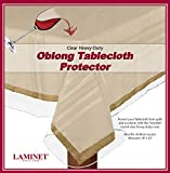 plastic tabletop cover - LAMINET Heavy Duty Deluxe Clear Vinyl Tablecloth Protector 52