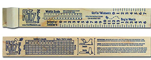 RITZ Kids - Length and Width Children's Foot Measure by Footer Family