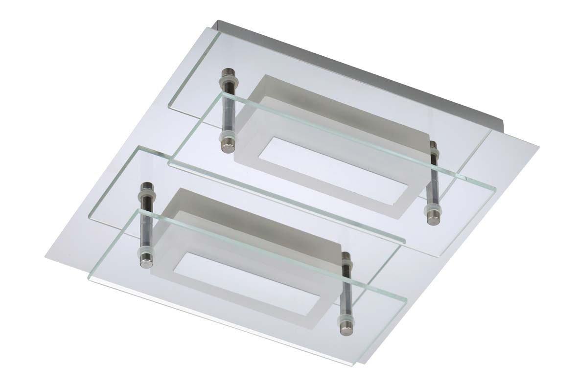 Trango 2Light IP44Designer bathroom ceiling light in square LED including LED Module Direct 230V TG4400–28. [Energy Class A+] TG2263