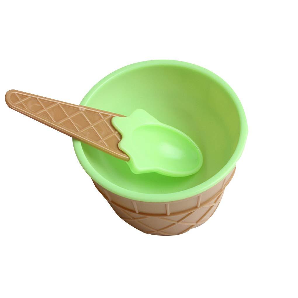 Provide The Best Environmentally Friendly Ice Cream Bowl Runde Plastikl/öffel Kinder Geschirr Cup Essgeschirr