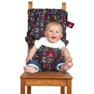 The Washable and Squashable Travel High Chair in Alphabet Soup