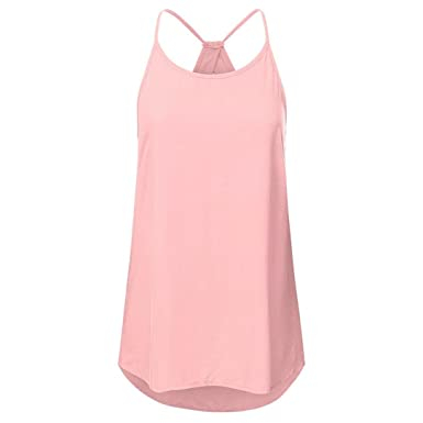 f6f9ff610cbb81 Kobay Camisole Top Women Summer Solid Hollow Out Sleeveless Criss Cross  Vest Pullover Tank Tops: Amazon.co.uk: Clothing