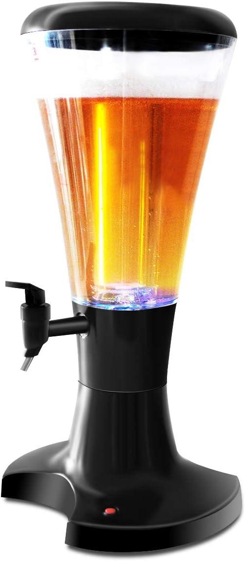 Drinkstuff Distributore per bevande a torre con scomparto per ghiaccio