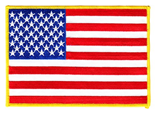 "USA - Large 5""x7"" Rectangular Patch"