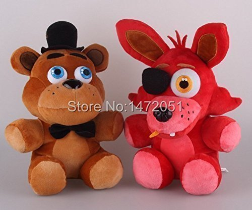 [New Brand Freddy and Foxy Fazbear Plush Toy (10 Inch) with 4pcs Foxy Chica Bonnie Freddy Action Figures] (Sims 3 Bear Costume)