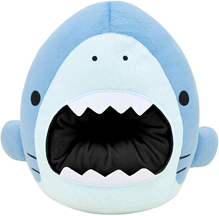 SAMEZU Shark Plush XL Open Mouth Stuffed Animal - Cute, Collectable and Cuddle Pillow Toy Character - Ultra-Soft Polyester Fabric - Authentic Japanese Kawaii Design - Premium Quality (Megalo)