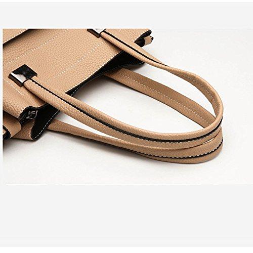 Tasche Tasche Tasche Damen Leder Große Kapazität Handtasche Schulter Mode B07FPBR7DP Umhngetaschen Tragen Sie Ihr Grünrauen b3b1ef
