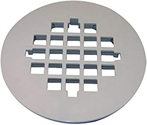 LASCO 03-1257 Snap in Style Shower Drain Grate, White Finish