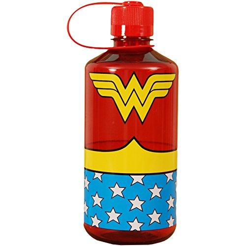 Silver Buffalo WW0119 Wonder Woman Uniform Plastic Water Bottle, 1-Liter