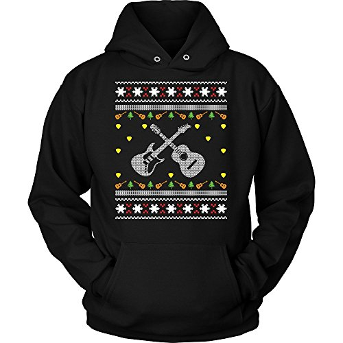 Price comparison product image Acoustic Electric Bass Guitar Gibson Yamaha Ugly Christmas Sweater Gifts Hoodie