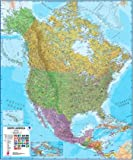 Extra Large North America Wall Map (political) - Laminated and pinboard mounted