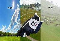 Finger Ten Men's Golf Glove Rain Grip Black Grey Color Pack, Durable Fit for Hot Wet All Weather, Left Hand Set Size Small Medium Large XL