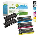 AZ Supplies © Premium OEM Quality 5PK TN115 High Yield Toner Cartridges Color Set + Black Professionally Remanufactured for Brother DCP-9040CN, DCP-9045CDN, HL-4040CDN, HL-4040CN, HL-4070CDW, MFC-9440CN, MFC-9450CDN, MFC-9840CDW Printers (2x Black, 1x Cy