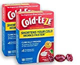 Cold-EEZE Cold Remedy Lozenges All Natural Cherry Flavor, 18 count, The original and best-selling zinc lozenges Clinically Proven, Shortens Colds, Homeopathic, Multi-Symptom Relief, Twin Pack