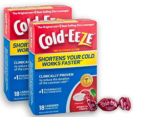 Original Flavor Lozenges - Cold-EEZE Cold Remedy Lozenges All Natural Cherry Flavor, 18 Count, The Original and Best-Selling zinc lozenges Clinically Proven, Shortens Colds, Homeopathic, Multi-Symptom Relief, Twin Pack