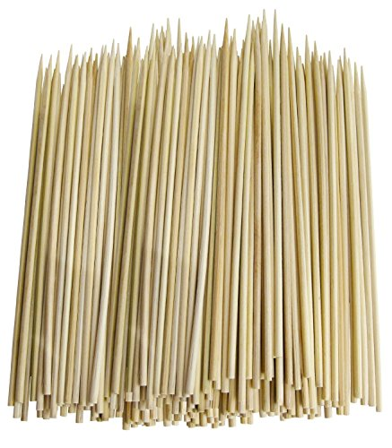 Pack of 500 Thin Bamboo Skewers (10 Inch, Pack of 500) by Chef Craft