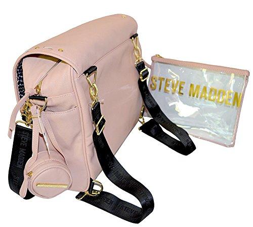 Steve Madden solapa bolsa de pañales de bebé Mochila Bolso de mujer