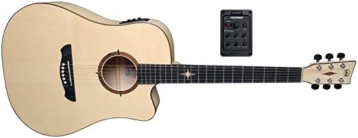 VGS Guitarra acústica P de E de 10 CE Polaris: Amazon.es ...