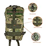 Akmax Military Tactical Backpack for Camping Hiking Small Bag Black Olive Green Multicam Molle System 3P Sports Bag Waterproof 30L
