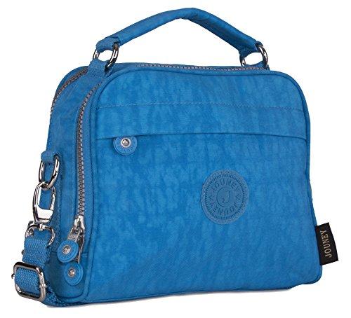 Big Handbag Shop - Bolso de asas de tela para mujer azul celeste