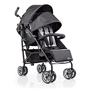 Summer Infant 3Dtwo Double Convenience Stroller, Gray Squared