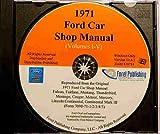 1971 MERCURY CARS REPAIR SHOP & SERVICE MANUAL CD - Comet, Marauder, Marauder X-100, Marquis, Marquis Brougham, Meteor (Canada) Montego, Montego MX, MX Brougham, Villager, Monterey, Monterey Custom. 71