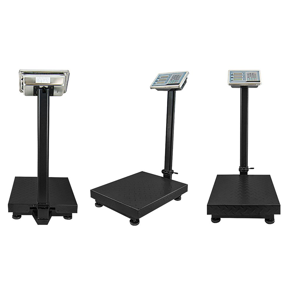 Houseables Industrial Platform Scale 600 LB x .05, 19.5'' x 15.75'', Digital, Large For Luggage, Shipping, Package Price Computing, Postal