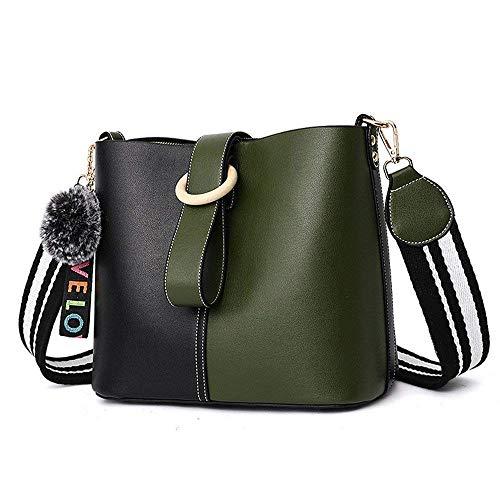 Tamaño Verde Messenger Basura Simple Pu De Bag Shoulder Wild Verde Moda color Roja Bolso PwC7qgP