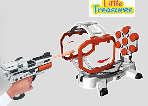 Little Treasures Fast Thinking Strike Elite Precision Target Set - Load Up the Gun for Target Shooting Arcade ()