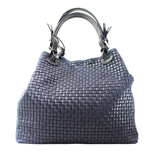 - Chicca Borse Woman Braided Handbag with Shoulder Strap in genuine leather made in Italy
