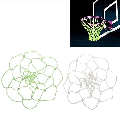 1PC Glowing Basketball Net Basketball Hoop Mesh Outdoor Trainning  Luminous  ue