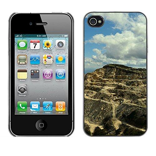 Premio Sottile Slim Cassa Custodia Case Cover Shell // F00029450 Sandy hill // Apple iPhone 4 4S 4G