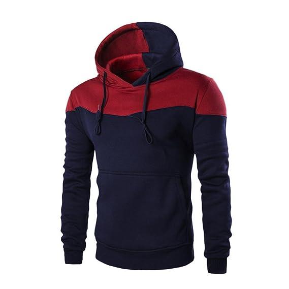 ... Hombres Invierno Sudadera con Capucha Delgada Sudadera Hombres Caliente Chaqueta de Abrigo Blusa Outwear Sweater Top tee: Amazon.es: Ropa y accesorios
