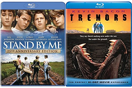 Tremors + Stand By Me Stephen King Blu-ray Collection 2 Movie Bundle Set