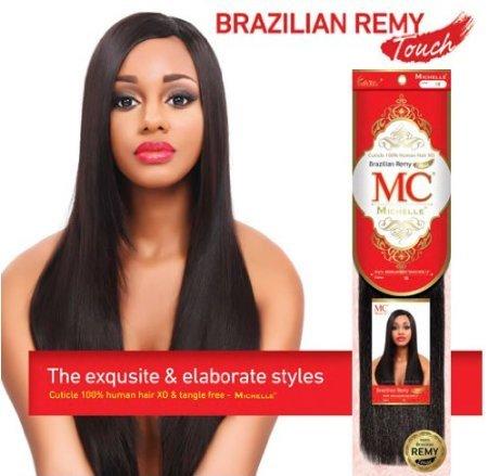 Mezcla de pelo de Michelle humanos toque Remy brasileño Yaki 12
