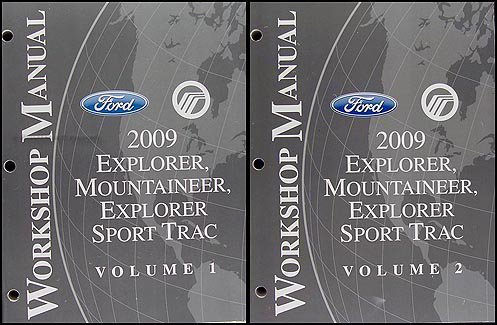 2009 Ford Explorer/Sport Trac Mercury Mountaineer Repair Shop Manual Set