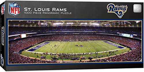 MasterPieces NFL St. Louis Rams Stadium Panoramic Jigsaw Puzzle, 1000 Pieces