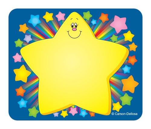 Carson Dellosa Rainbow Star Name Tags (9421)