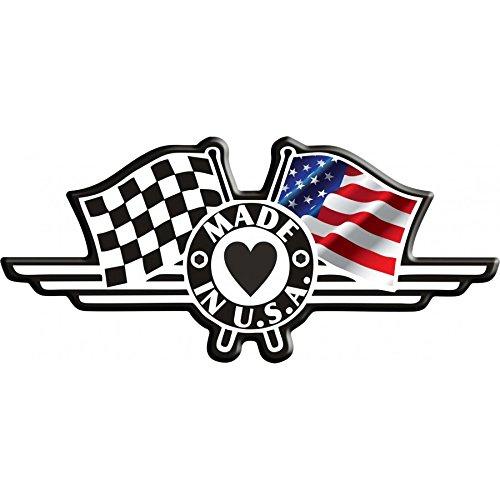 Bandera pegatina Made in USA ajedrez Italpads